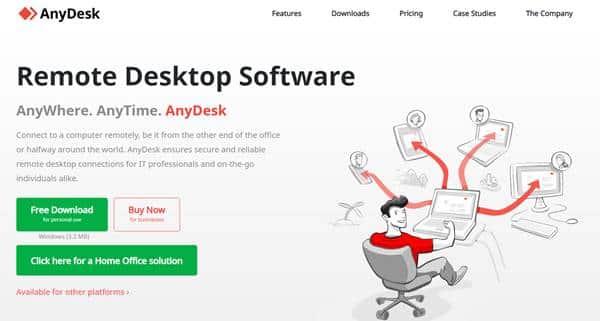 AnyDesk (top teamviewer alternative)