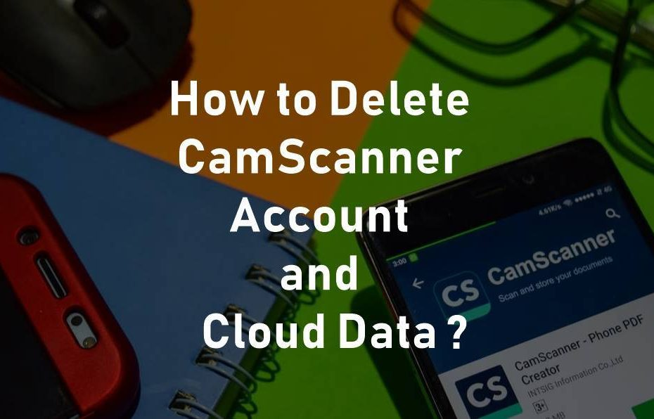 how to delete camscanner account and cloud data image