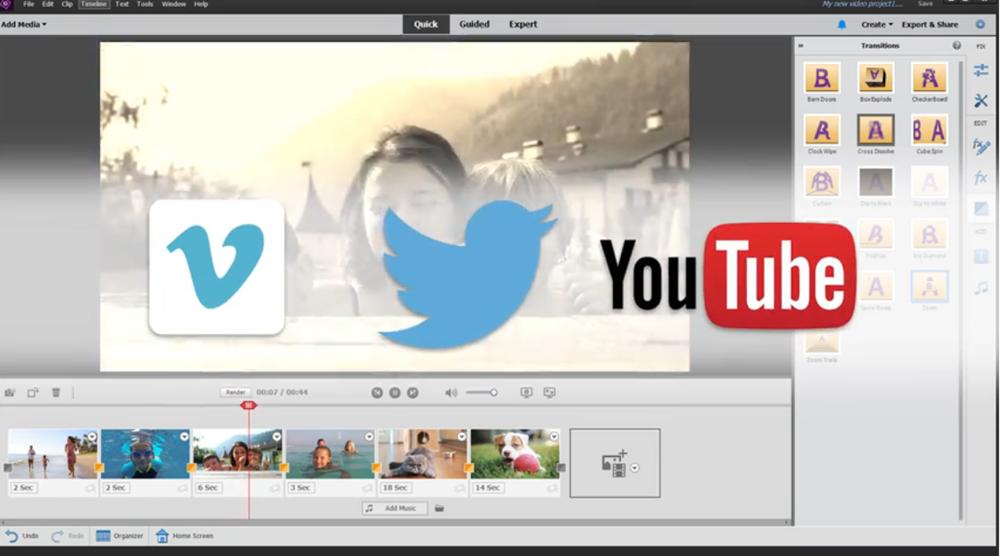 Adobe Premiere Elements video editor image