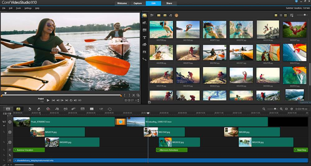 Corel VideoStudio video editor image