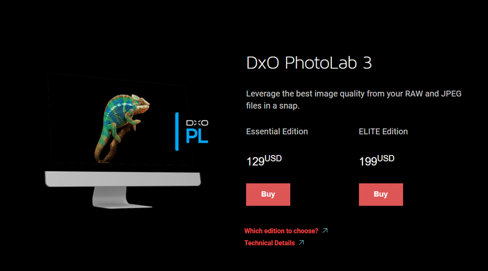 DxO Photolab 3 homepage